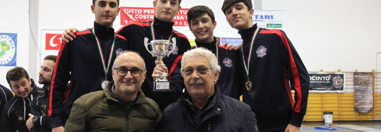 Campionato Serie C2 spada a squadre 2020: sul terzo gradino del podio