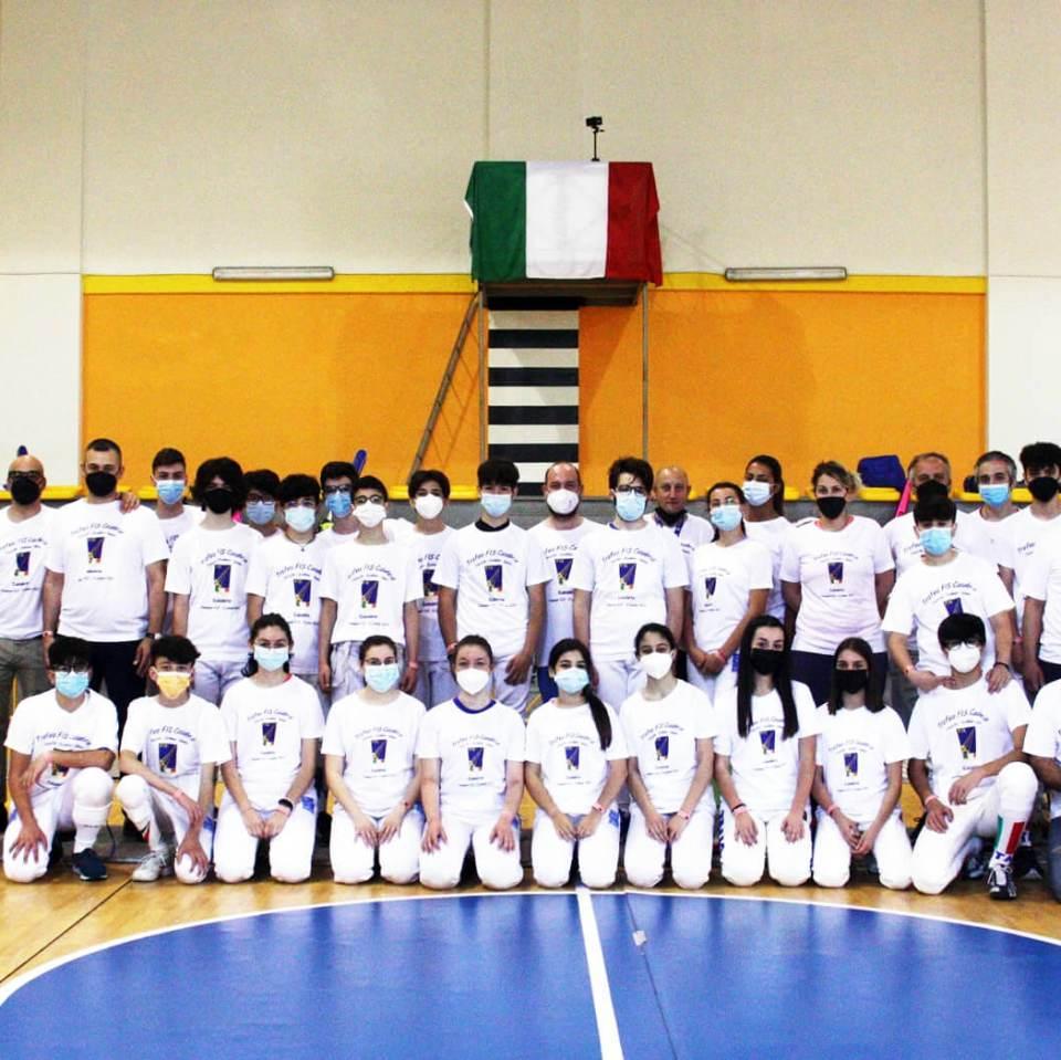 Trofeo FIS Calabria a coppie miste: atleti, arbitri, tecnici e dirigenti della scherma calabrese