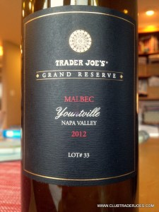 Trader Joe's Grand Reserve Malbec
