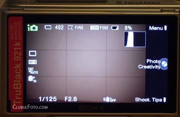 Sony NEX-C3: Asa se vede imaginea pe ecranul LCD