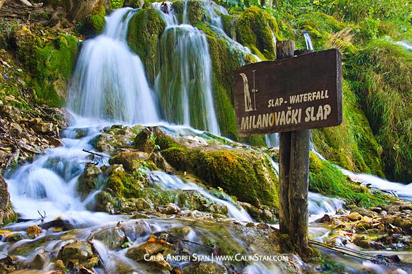 Parcul Plitvice, Croatia, cu filtru neutru Full (expunere 30 de secunde)