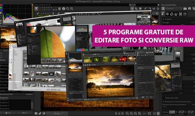 Programe gratuite de editare foto si conversie RAW