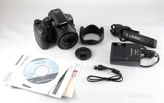 Ce se gaseste in cutie, alaturi de Panasonic Lumix FZ300