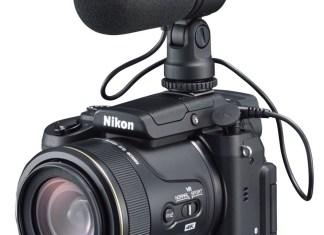 Nikon DL24-500mm, cu microfonul ME-1 (optional) montat