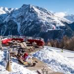 Relaxare intre doua coborari cu skiurile, la Gampe Thaya