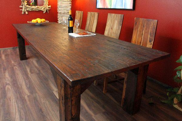 Esstisch Antik Alt Holz Massiv Teak Tisch Thailand 300x100x76