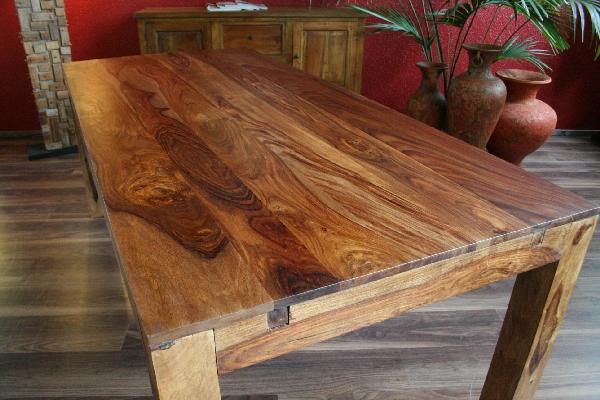 Esstisch Erweiterbar Massiv Holz 120x80 200x80 Bali