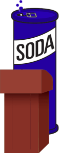 Can of soda (carbonated beverage)