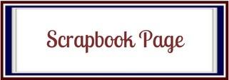 scrapbook page banner