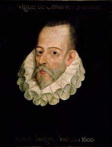 Portrait of Miguel de Cervantes by Juan de Jáuregui
