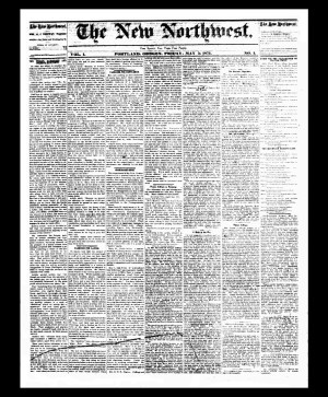 Image of The New Northwest newspaper, first edition.