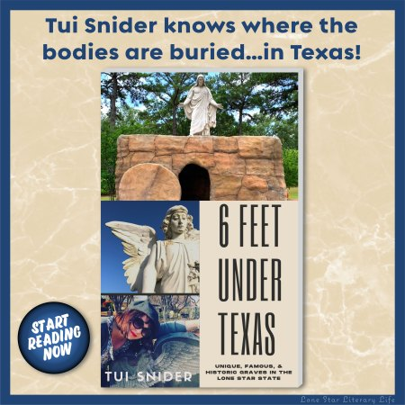 "Ad: ""Tui Snider knows where the bodies are buried...in Texas!"""