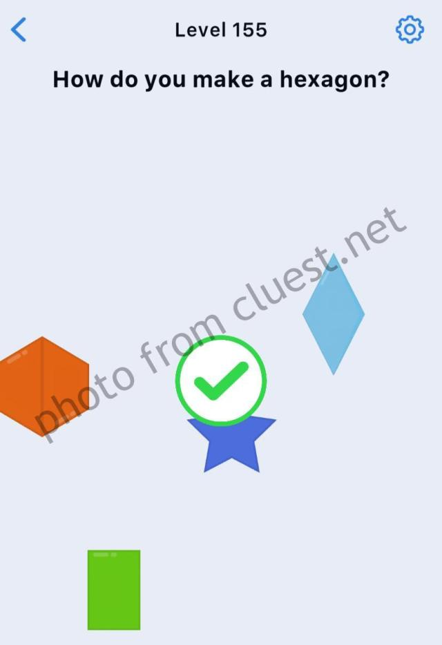 Easy Game Level 27 How do you make a hexagon Answers and