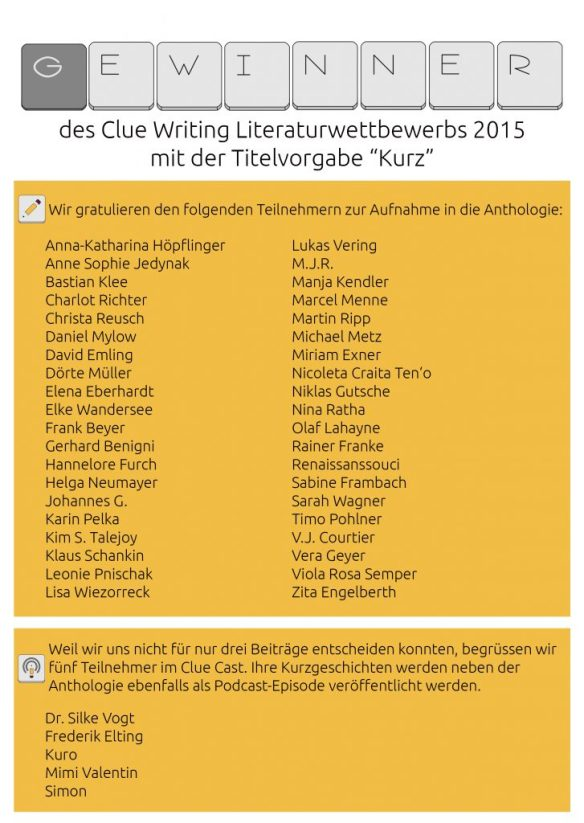 Literaturwettbewerb 2015 - Gewinner
