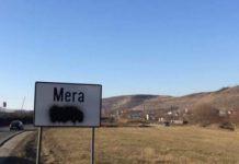 placuta bilingva vandalizata mera