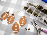 Leather Football Earrings with a Free Cut File - Clumsy ...
