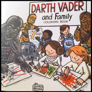 coloring books for sci fi geeks and nerds Darth Vader and Family Coloring Book