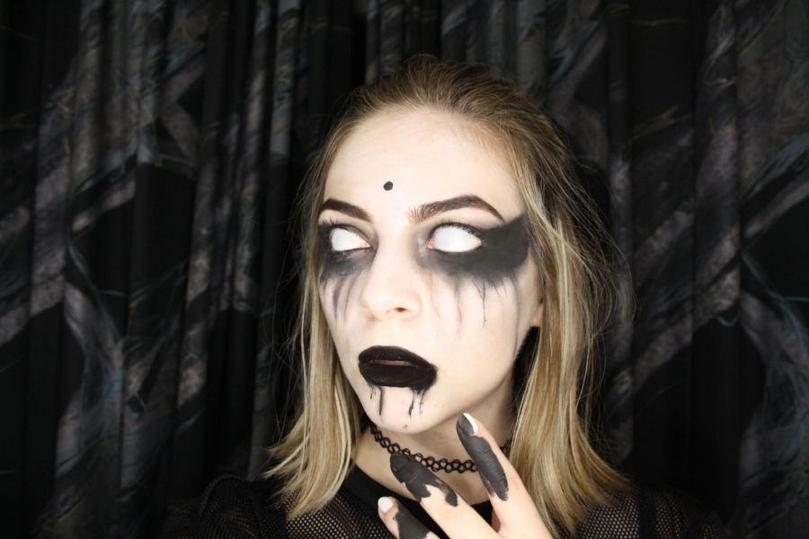 Griezelige halloween make up