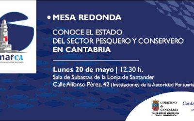 El sector de la pesca y la conserva de Cantabria se citan con el MarCA el 20 de mayo en Santander