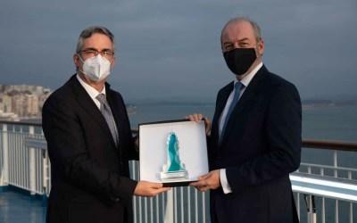 El Clúster MarCA premia la determinación de Christophe Mathieu para cimentar el crecimiento de Brittany Ferries desde Santander