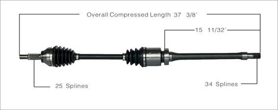 2002-2004 Ford Focus SVT 2.0 NEW Front Right CV Axle Shaft