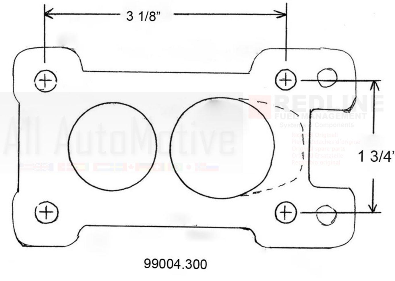 Weber Carburetor Adapter kit To 32/36 DGV for Suzuki