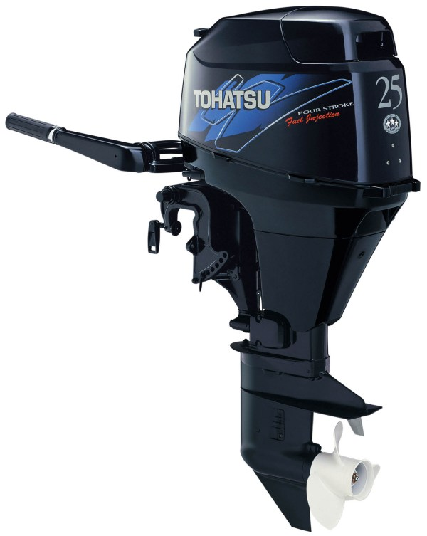 Tohatsu 25hp Outboard Mfs25 Ef Electric Start