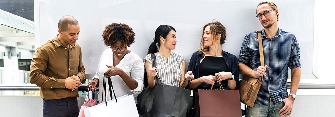 a group of shoppers