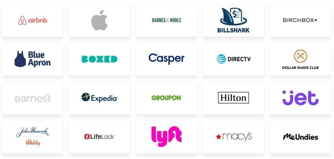 """Some of the featured Found Money brands. In a clever marketing twist, Acorns refers to this cash back program as """"cash forward."""""""