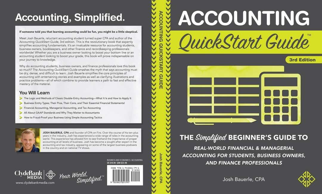 Download the full cover of the Accounting QuickStart Guide as a spread here
