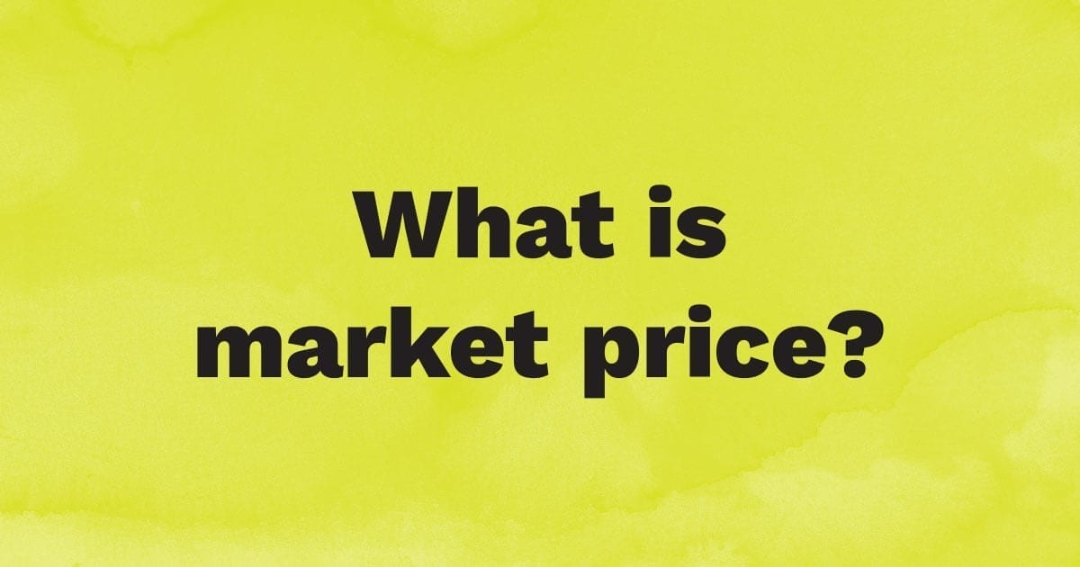 What is the market price of a stock?