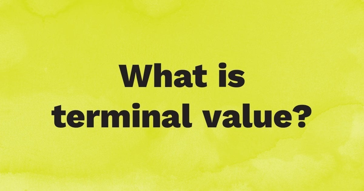What is terminal value?