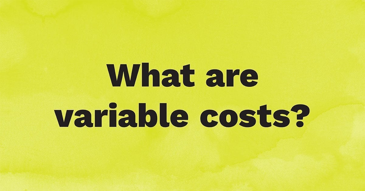 What are variable costs?