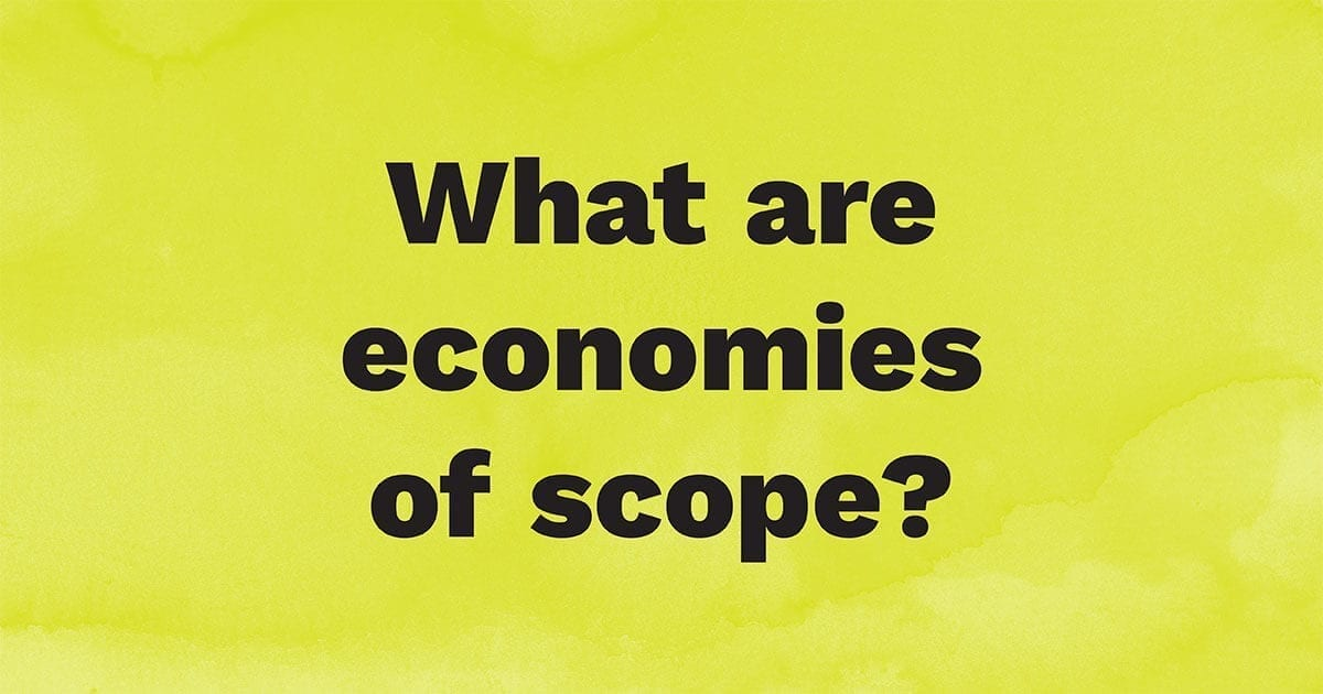 What are economies of scope?