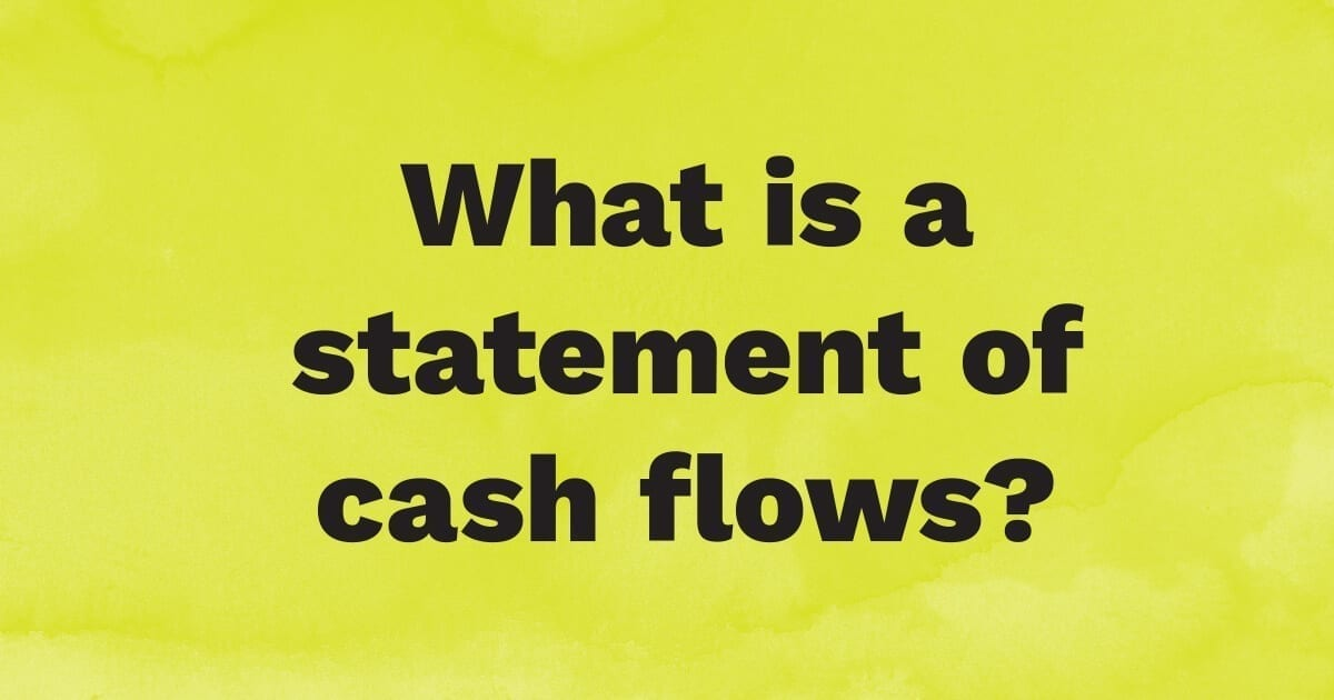 What is the statement of cash flows?