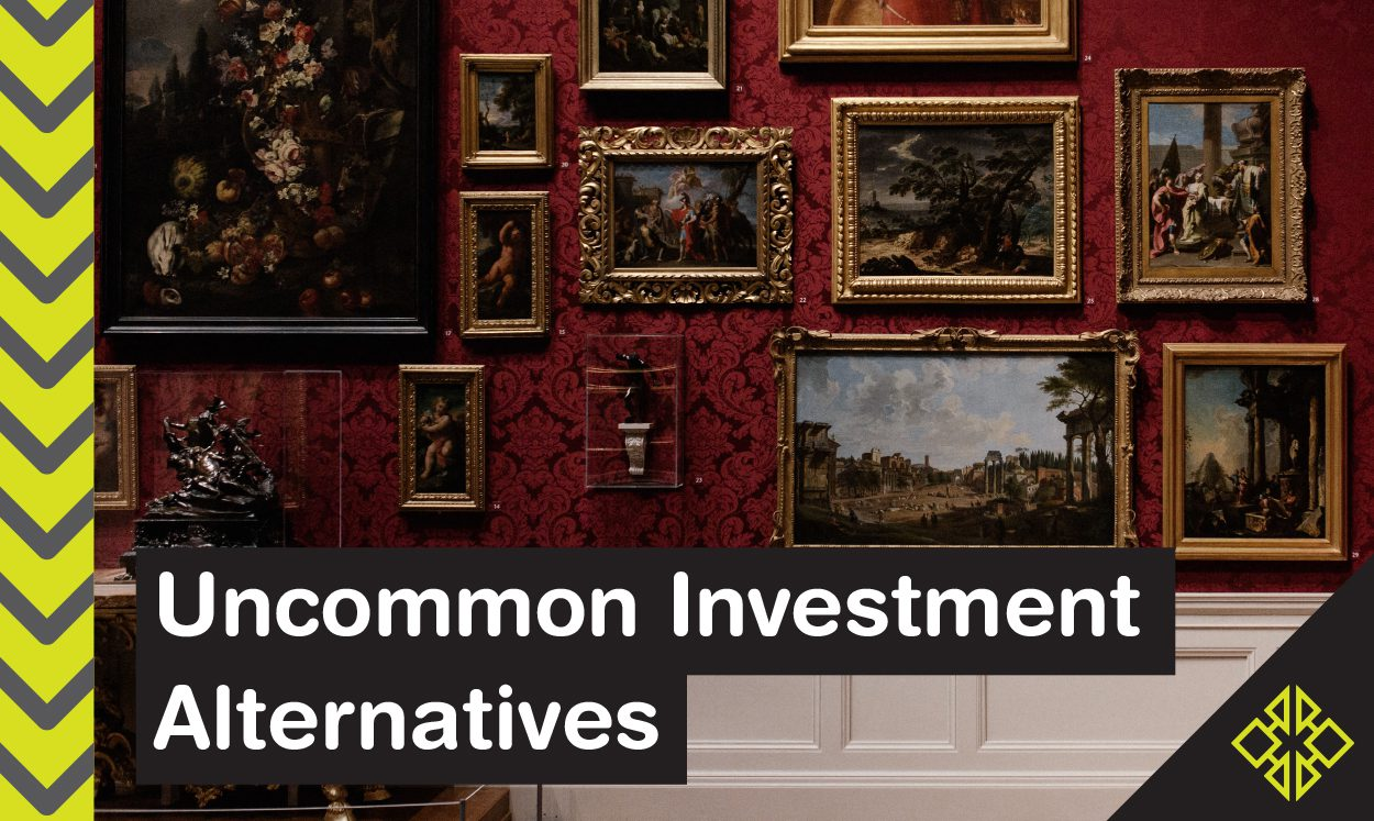 Stocks and bonds make up the standard investment mix, but have you taken the time to check out these interesting investment alternatives?
