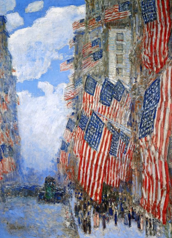 american flag art has