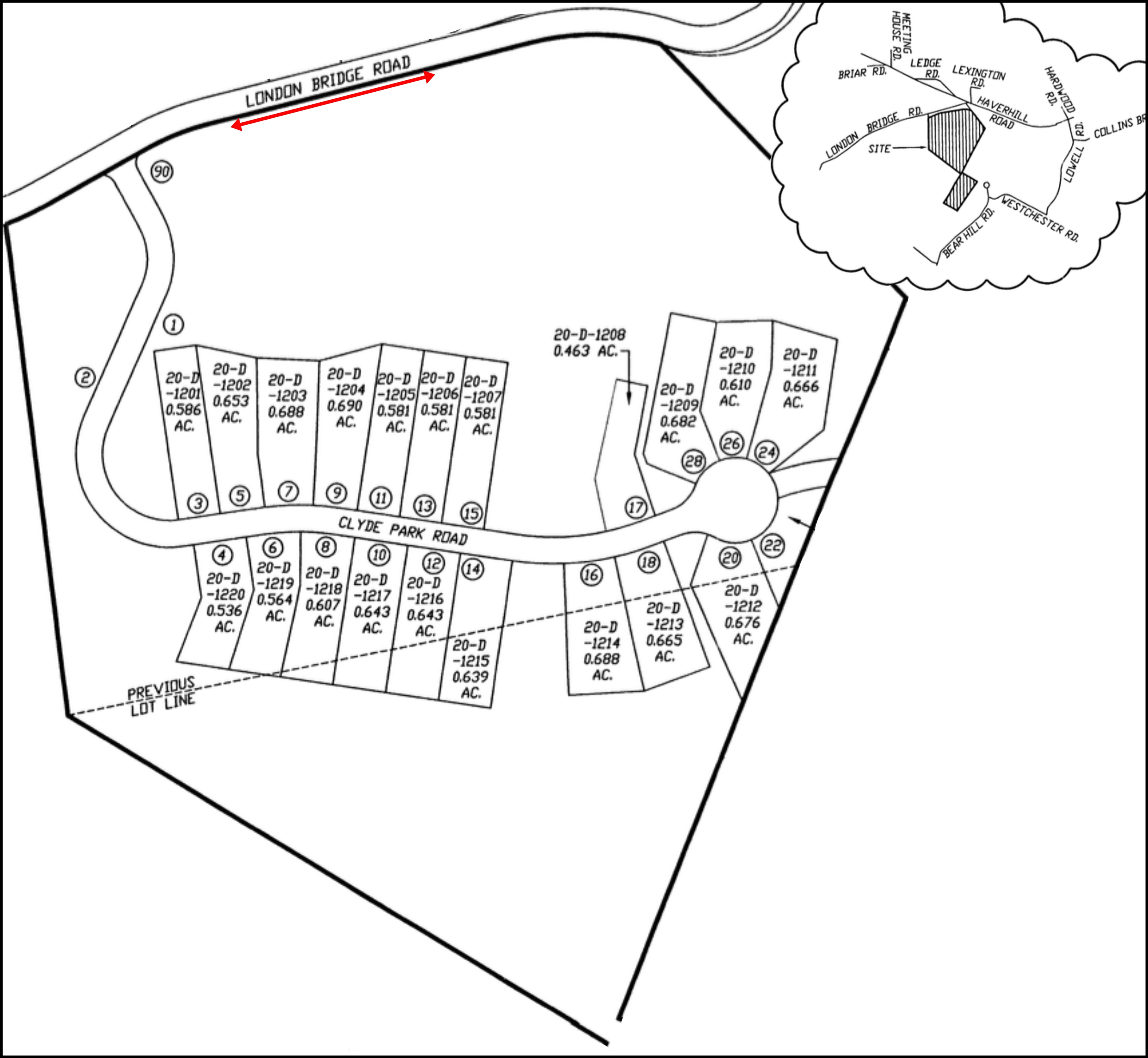 Clyde Pond Subdivision Plan Map Windham Nh