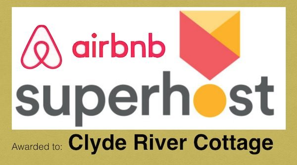 Superhost Status Awarded to Clyde River Cottage