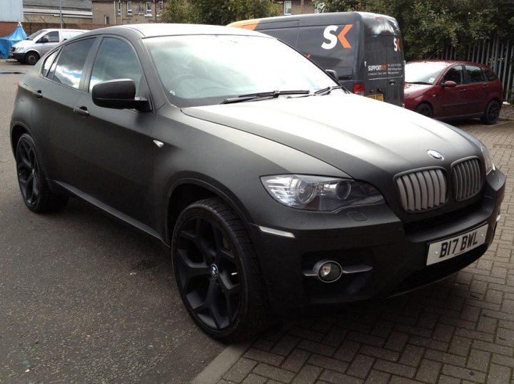 BMW X6 3.0D in Matt Black