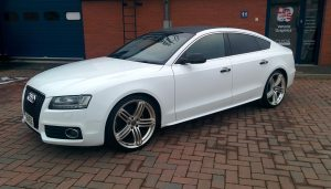Audi A5 TDi Gloss White and Carbon Black