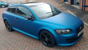 3m 1080 series Matte Metallic Blue Volvo c30