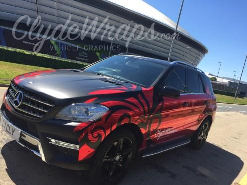 Red Chrome Tribal Tattoo Mercedes Ml