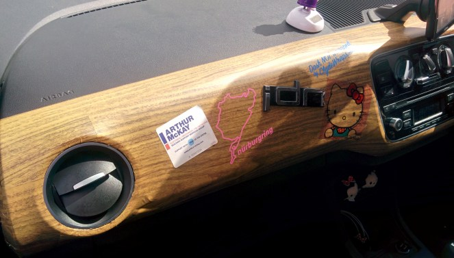 Dashboard not wrapped by Clyde Wraps! :)