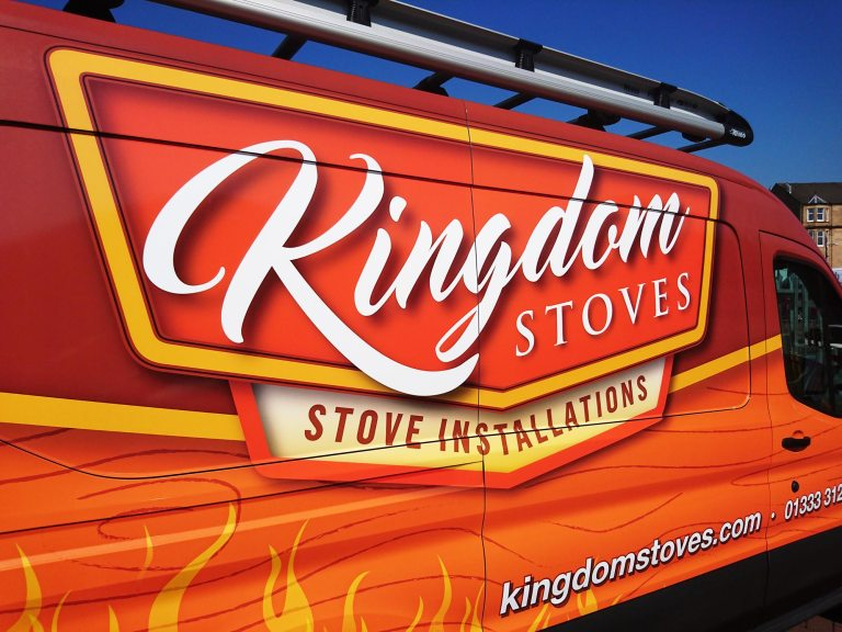 Kingdom Stoves Ford Transit Full Digital Van Wrap