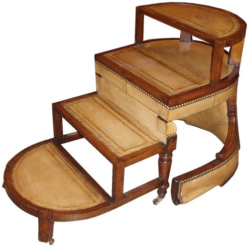 Wood Library Chair Step Ladder PDF Plans
