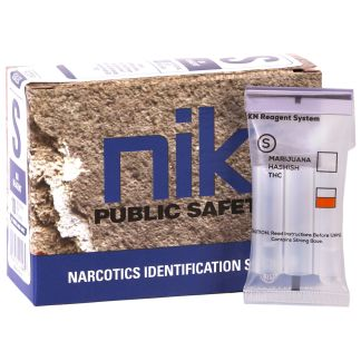 Nik Test S – A test for Marijuana, Hashish and Hash Oil. Box of 10
