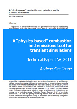 "A ""physics-based"" combustion and emissions tool for transient simulations"