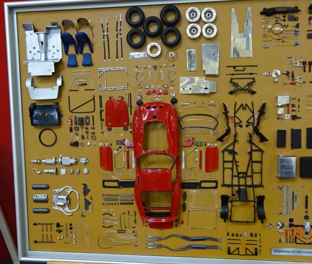 Cmc Model Art Cmc Ferrari 250 Gto Parts Display Board Limited Edition 200 Pcs