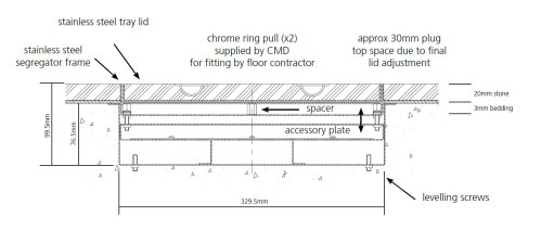 small resolution of screed stainless steel floor box dimensions
